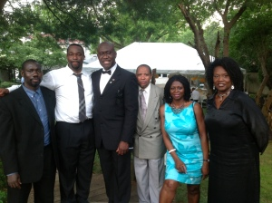 African professionals gathered in Long Island to  raise money for Dr Bola Omotosho (3rd from the left).